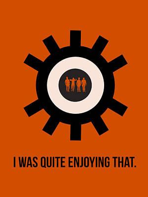 Orange Digital Art - Clockwork Poster by Naxart Studio