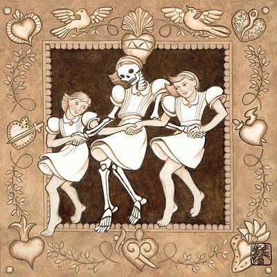 Clogging Broken Hearted Art Print by Ruth Hooper