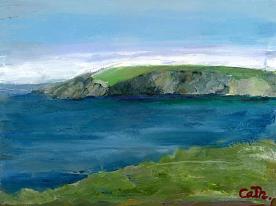 Viridian Painting - Clogher Dingle West Kerry On Ireland's Wild Atlantic Way by Catherine Considine