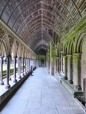 Photograph - Cloister Hallway At The Mont by Crystal Nederman
