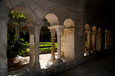 Cloister Of Ancient Monastere Art Print by Panoramic Images