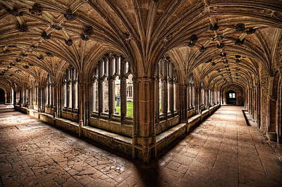 Cloisters At Lacock Abbey Art Print
