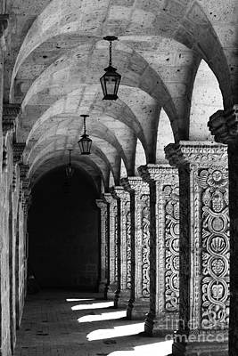 Cloisters In Arequipa Peru Print by James Brunker