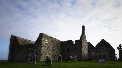 Photograph - Clonmacnoise Cathedral by Nadalyn Larsen