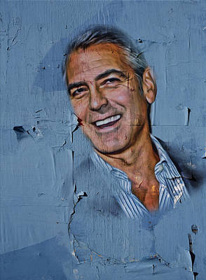 Clooney On Board Art Print