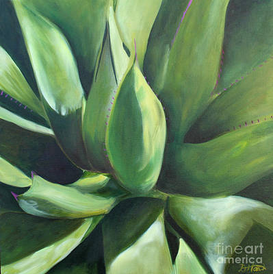 Painting - Close Cactus II - Agave by Debbie Hart