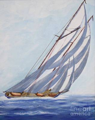 Painting - Close Hauled In A Half Gale by Bill Hubbard