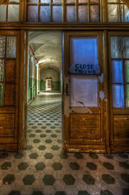 Creepy Digital Art - Close The Door by Nathan Wright