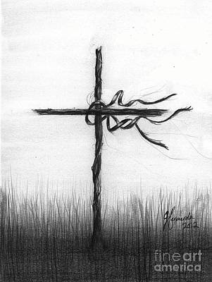 Bible Verse Drawing - Close To The Brokenhearted by J Ferwerda