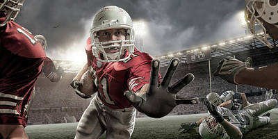 Close Up American Football Action Art Print by Peepo