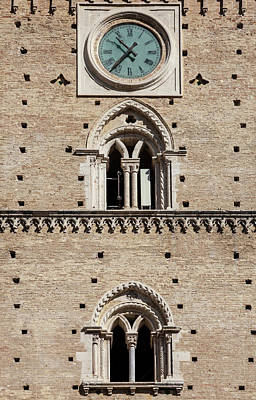 Photograph - Close Up Detail Of Tower In Chieti by Walter Zerla