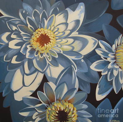 Mums Painting - Close Up Mums by Elisabeth Olver