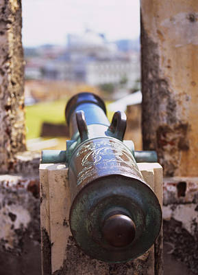Close-up Of A Cannon At A Castle Print by Panoramic Images