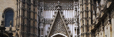 Andalucia Photograph - Close-up Of A Cathedral, Seville by Panoramic Images