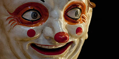 Human Face Photograph - Close-up Of A Clown At A Shop, El by Panoramic Images