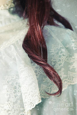 Photograph - Close Up Of A Lock Of Hair With Vintage Dress by Sandra Cunningham
