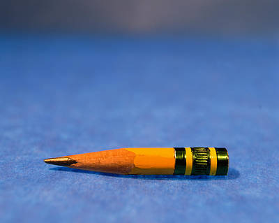 Conformity Photograph - Close-up Of A Pencil Nub by Panoramic Images