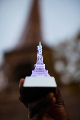 Miniature Photograph - Close-up Of A Souvenir Miniature Eiffel by Panoramic Images