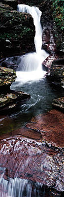 Ricketts Glen Photograph - Close-up Of A Waterfall, Ricketts Glen by Panoramic Images