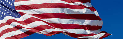 Fluttering Photograph - Close-up Of An American Flag by Panoramic Images