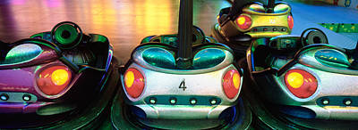 Close-up Of Bumper Cars, Amusement Print by Panoramic Images