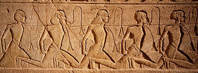 Ancient Egyptian Photograph - Close-up Of Carvings On A Wall, Great by Panoramic Images