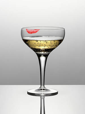 Photograph - Close Up Of Champagne In Glass With by Andy Roberts
