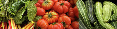 Zucchini Photograph - Close-up Of Chard, Heirloom Tomato by Panoramic Images