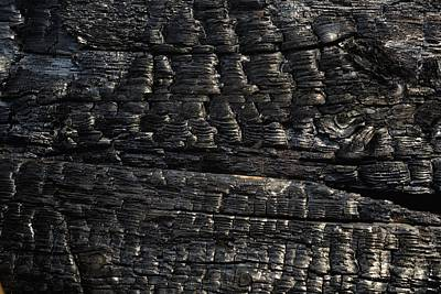 Background And Textures Photograph - Close-up Of Charred Wood by David Chapman