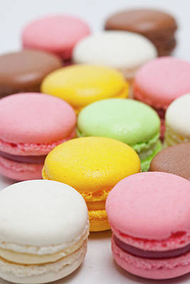 Photograph - Close Up Of Colored Macarons by Henn Photography