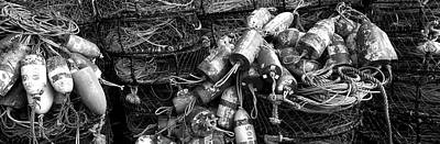 Crab Nets Photograph - Close-up Of Crab Pots, Humboldt County by Panoramic Images
