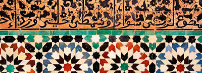 Arabic Script Photograph - Close-up Of Design On A Wall, Ben by Panoramic Images