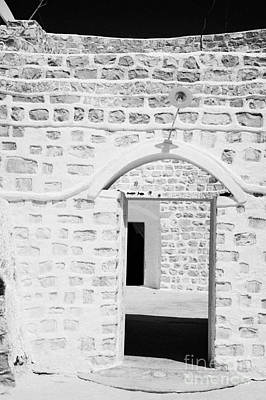 close up of front doorway entrance to family home berber troglodyte underground dwelling at Matmata Tunisia Art Print by Joe Fox