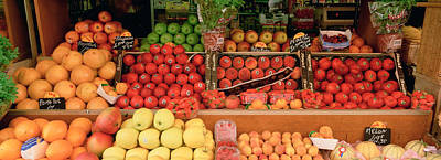 Close-up Of Fruits In A Market, Rue De Art Print by Panoramic Images