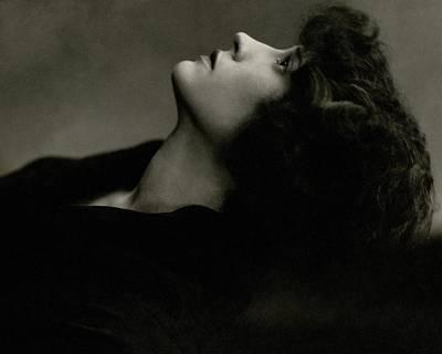 Close Up Of Helen Menken Art Print by Edward Steichen