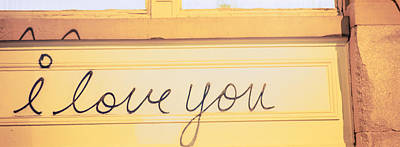 Close-up Of I Love You Written On A Wall Art Print by Panoramic Images