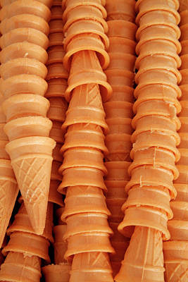 Food Stores Photograph - Close Up Of Ice Cream Cones, Ouray by Julien Mcroberts