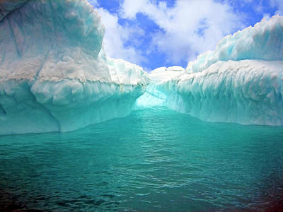 Close Up Of Iceberg With Fluted Art Print