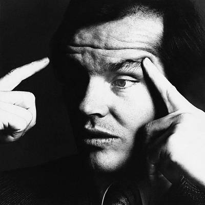 Jack Nicholson Photograph - Close Up Of Jack Nicholson by Jack Robinson
