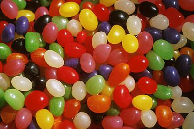 Multi Colored Photograph - Close Up Of Jelly Beans by Anonymous
