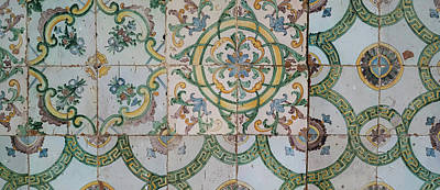Repetition Photograph - Close-up Of Mosaic Tiles In A Mosque by Panoramic Images