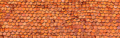 Close-up Of Old Roof Tiles, Rothenburg Art Print
