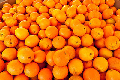 Close-up Of Oranges, Santa Paula Print by Panoramic Images