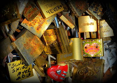 Photograph - Close Up Of Paris Locks Of Love by Carla Parris