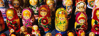 Doll Photograph - Close-up Of Russian Nesting Dolls by Panoramic Images