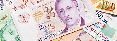 Close-up Of Singaporean Currency Print by Panoramic Images