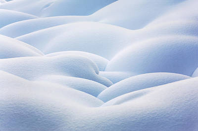 Close Up Of Snow Covered Round Art Print by Michael Interisano