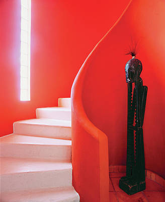Colour Image Photograph - Close-up Of Staircase by Scott Frances