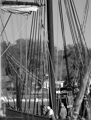 Close Up Of Tall Ship  Art Print by Debra Forand
