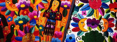 Female Likeness Photograph - Close-up Of Textiles, Guatemala by Panoramic Images